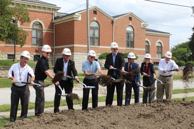 Birchard Public Library held a ceremonial groundbreaking ceremony Tuesday for the library's $6.17 million building expansion and addition project. Pam Hoesman, Birchard's director, said the project should take approximately 15 months to complete.