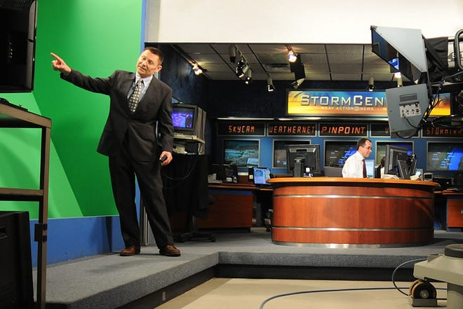 WBAY-TV meteorologist Brad Spakowitz presents the weather forecast in 2010. He announced Monday he will no longer be doing weekday evening forecasts and is moving into a smaller role at the station.
