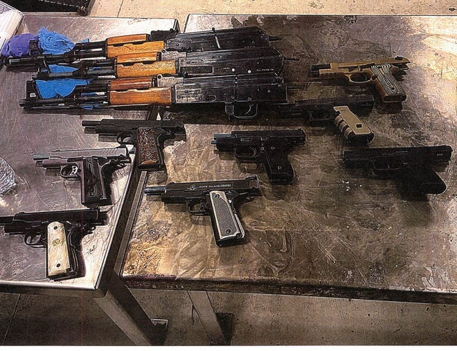 Jose Rafael Vasquez, of Dallas, tried to smuggle these guns from the U.S. to Mexico, but was arrested as part of Homeland Security's Operation Without a Trace.