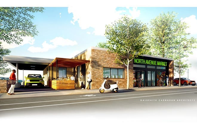 North Avenue Market, 5900 W. North Ave., is being created within a former Associated Bank branch. It just received a key loan.
