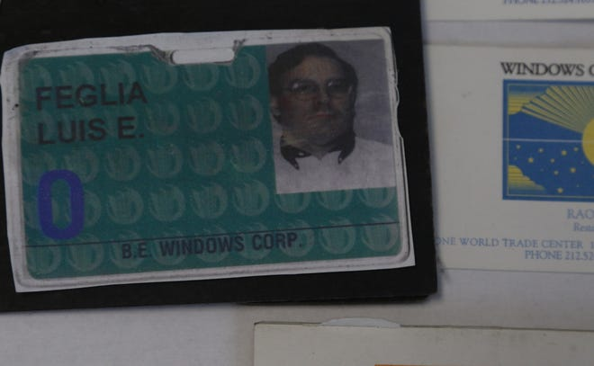 A security card for Luis Feglia when he worked at Windows on the World in the World Trade Center in September 2001 but wasn't in the building at the time of the attack on September 11. He now works in real estate on Long Island.