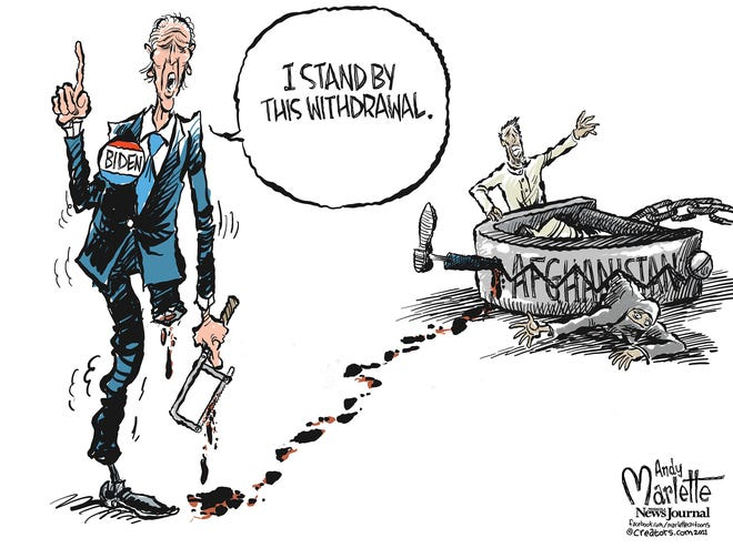 Marlette cartoon: Biden standing by...