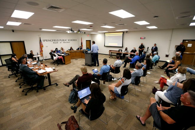 A total of 28 people signed up to address the Springfield school board during the Aug. 17 meeting but some left before it was their turn.