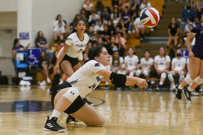 Franklin's Ella Keel (14) during the game against El Paso High Tuesday, Aug. 17, 2021, at Franklin High School in El Paso.