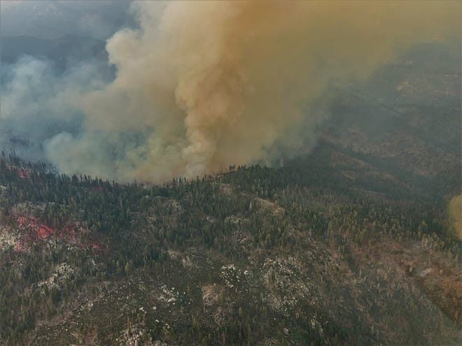 The Walkers Fire was discovered Sunday and isburning in the Golden Trout Wilderness in the Western Divide Ranger District in Sequoia National Forest.