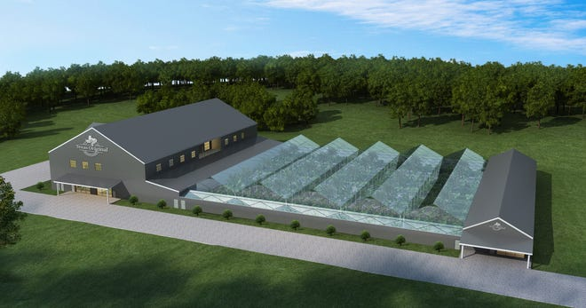 A rendering of Texas Original Compassionate Cultivation's proposed 96,000-square-foot facility on 25 acres at 176 FM 969.