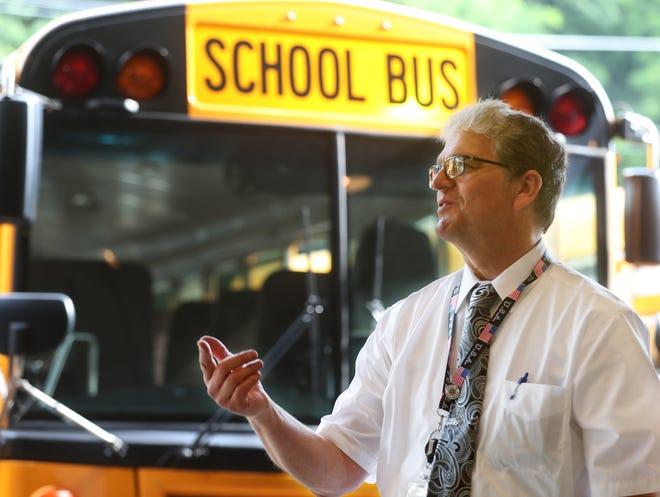 William Andexler, coordinator of transportation services for Akron Public Schools
