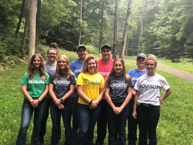 Mapleton FFA officers participated in chapter officer training at Ohio FFA Camp Muskingum.