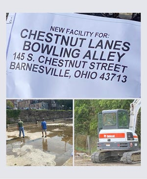 The long-awaited construction project to rebuild Chestnut Lanes at 145 S. Chestnut St., Barnesville, is underway, according to social media posts made by the business recently. The long-time business was gutted by fire in November 2020 and later razed due to the extent of the damage.