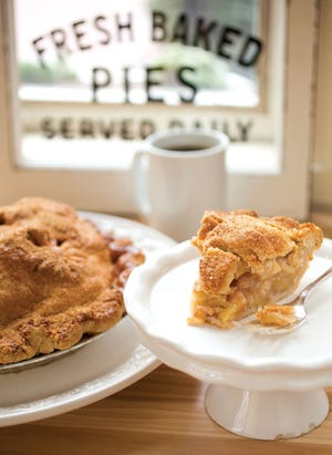 Apple pie from Worthington's Sassafras Bakery, which is set to close this week.