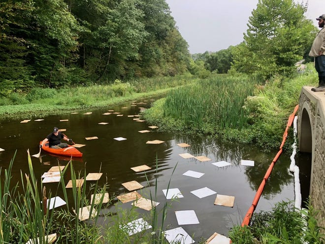 A 160-acre lake in southeast Ohio was contaminated with crude oil from an unknown source, according to the Ohio Department of Natural Resources. A resident reported the leak to ODNR on Thursday in Plum Run, which empties into Veto Lake in Washington County.