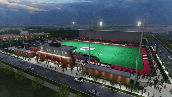 An artist's rendering of the lacrosse-specific stadium to be built at Ohio State.