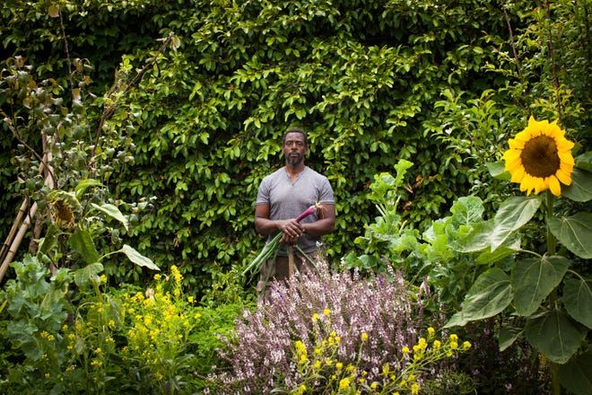 This photo provided by Stephen Zeigler shows Ron Finley in a garden in Los Angeles. Interest in gardening has grown around the country. And urban gardeners say it's particularly important for the health and resiliency of city neighborhoods.