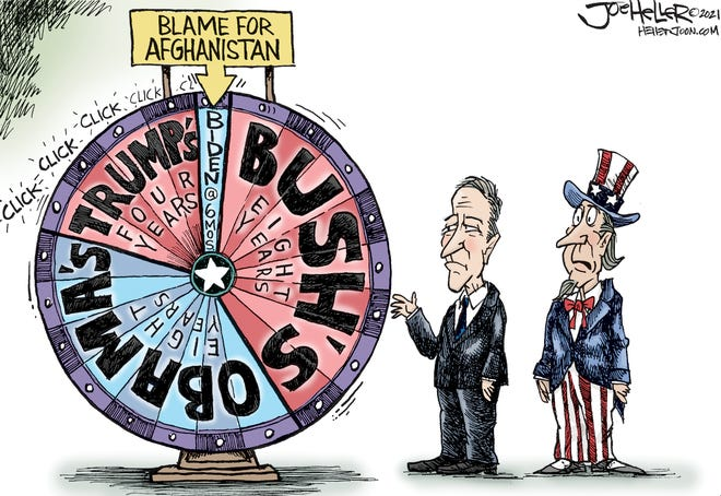 Joe Heller cartoon published Aug. 22, 2021