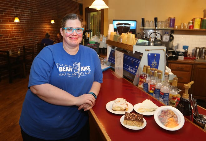 Karla Knechtel, who owns the Mustard Seed in Buhler with her husband Bill, comes in daily to create homemade cinnamon rolls with frosting and a variety of other desserts.