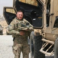Bryan Schroeder, principal at Dundee High School, served with the U.S. Army in Afghanistan.