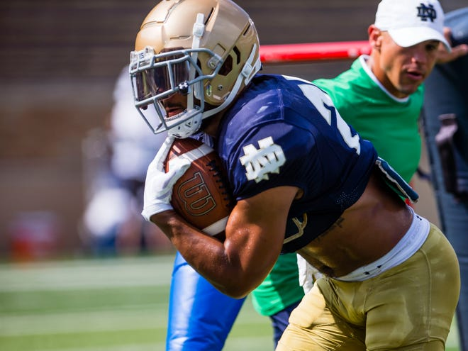 Running back Kyren Williams and the Irish running game will have a big impact on Notre Dame's offensive success this season.