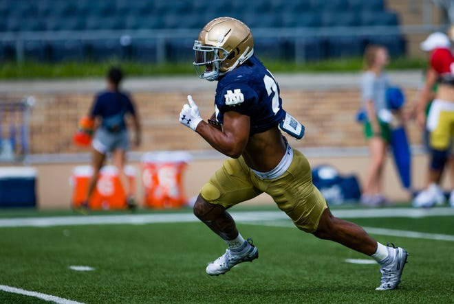 Notre Dame running back Kyren Williams was named to the AP preseason All-America first team as an all-purpose player.