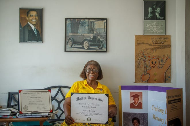 Dr. Martha Meeks-Light in a portrait at her home in Boynton Beach, Fla., on Wednesday, August 18, 2021.
