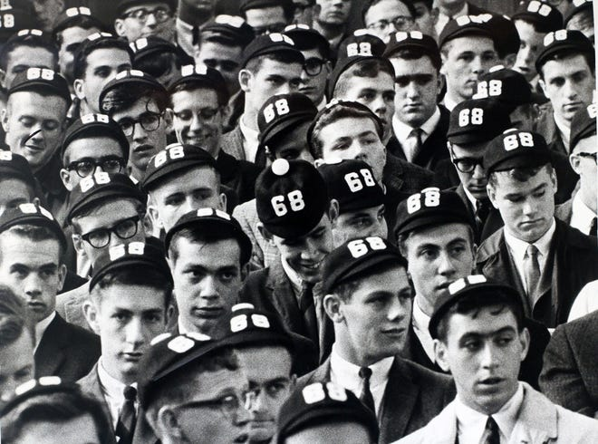 In 1964, the incoming Class of 1968 at Providence College was conspicuous with their beanies, the wearing of which was a rite of passage into college life.