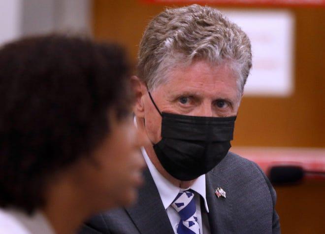 Gov. Dan McKee issued an executive order requiring universal masking in schools last week.