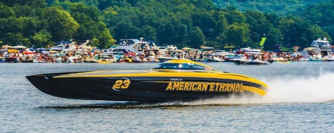 """There will be lots of high-octane action during the Shootout powerboat races at Captain Ron's Bar and Grill on Saturday and Sunday, August 28 and 29. American Ethanol is the reigning champion taking home the """"Top Gun"""" title the last six years running."""
