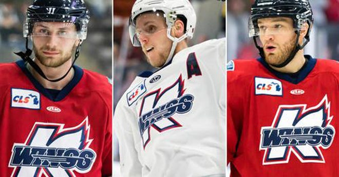 Matheson Iacopelli, Justin Taylor and Tanner Sorenson are all returning to play for the K-Wings this season.