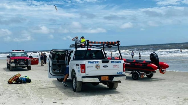 Oak Island Water Rescue along with other Brunswick agencies and the Coast Guard worked to save people from an apparent drowning  last week.