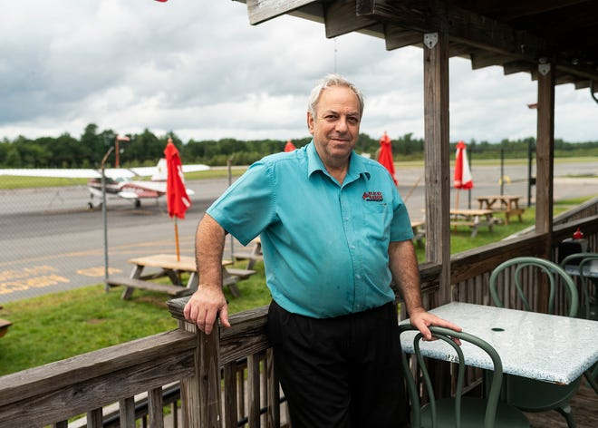 Jim Dhembe, owner of the Red Baron Diner at the Southbridge Airport.
