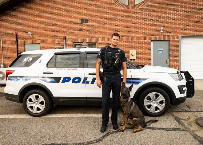 Curtis, a police dog, has joined the ranks of the Spencer Police Department working alongside Officer Brandon Fullam.