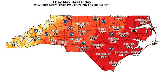 Temperatures in the Cape Fear region creep back up to mid-August averages in the week ahead.
