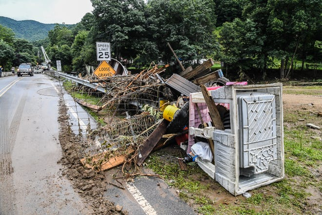 Haywood County allocated $5 million in cleanup funds to help remove debris from the Aug. 17, 2021 flooding.
