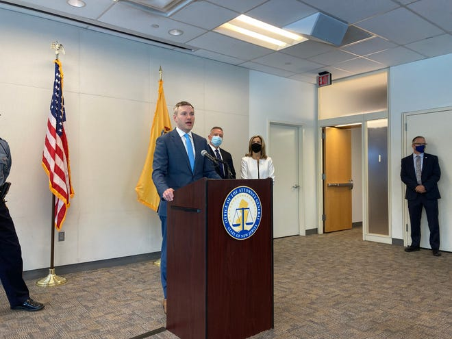 New Jersey's acting Attorney General Andrew Bruck talks about the arrests of 11 people in Camden who authorities say were part of a criminal ring dealing drugs, illegal guns and stolen motorcycles and ATVs.