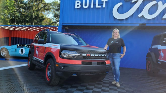 Professional off-roaders Melissa Fischer (pictured) and Cora Jokinen will drive this '21 Ford Bronco Sport in the X-cross class this year.