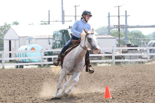 Allison Taylor of the No Limits 4-H Club competes in the Western Horsemanship (14-18) division at the 2020 Sandusky County Fair.  The 2021 Sandusky County Fair starts Tuesday and runs through Aug. 29. This year's fair includes a full slate of grandstand and grounds entertainment, as well as musical acts performing at the Log Cabin Stage.