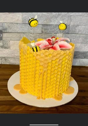Owner of Cudahy-based ZoMazing Cakes,Zohay Schwab makes all kinds of cakes, including this one of a beehive.