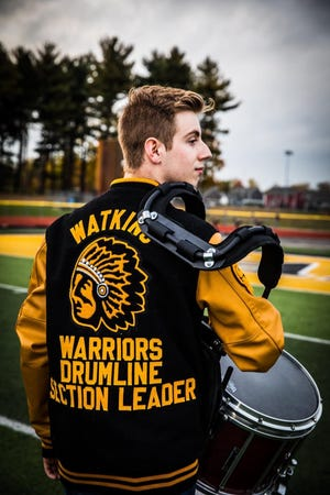 Ryan Brinnon, a 2021 Watkins Memorial graduate who will be part of Ohio University's Marching 110 this fall, has been selected to march in the 2022 Rose Parade in Pasadena with the Bands of America Honor Band.