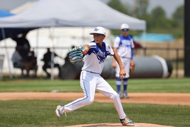 Gavin Weir, pitcher for the South Dakota team at the Little League