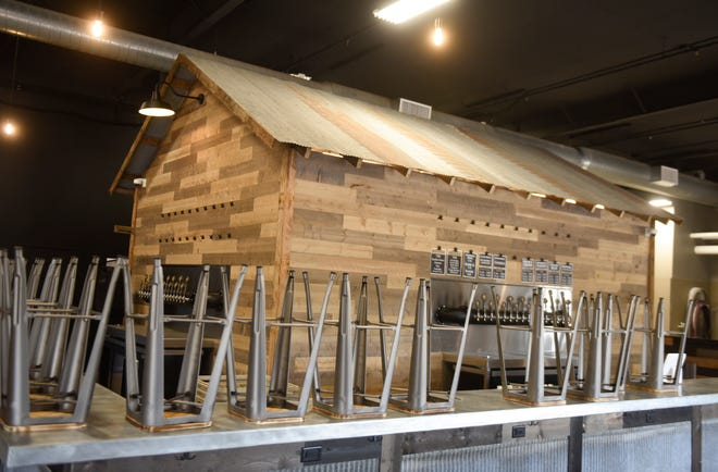 Back Shed Brewing has their new bar installed Thursday, August 19, 2021, in Waite Park.