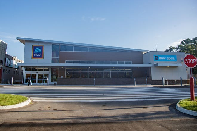 The new Aldi located on Pensacola Street is open for business Thursday, Aug. 19, 2021.