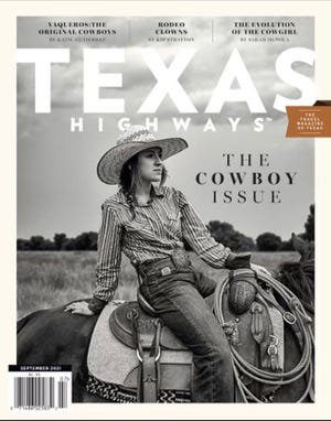 """The September Texas Highways' """"The Cowboy Issue,"""" features one of Montague County's own young cowgirls, Maddie Ferguson of Nocona."""
