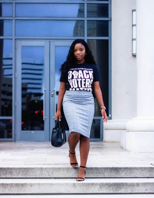 Deyona Burton, a high school senior in Jacksonville, Florida, is founder of SPEAR (Showing Political Engagement and Responsibility), a youth-led social and political action group.