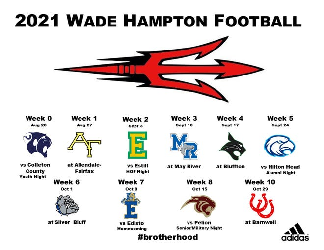 There has been one change to the Wade Hampton High School varsity football schedule. Due to a COVID-19 cancellation, the WHHS Red Devils will play C.A. Johnson at home tonight instead of Colleton County.