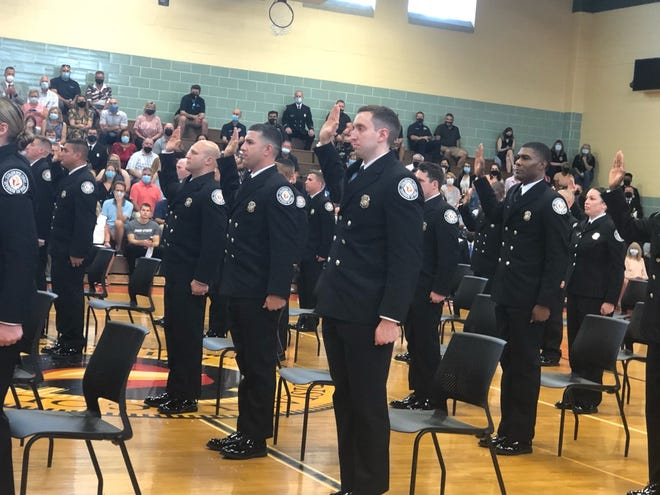 Thirty-four men and women took their oaths and graduated Friday from the Columbus Fire Training Academy.