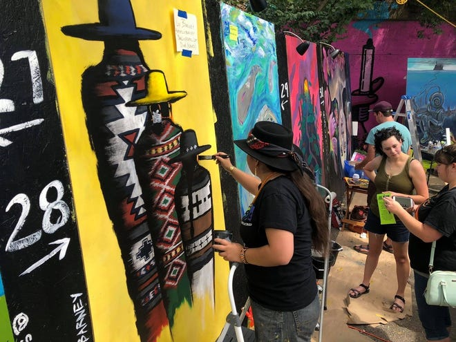 Guests attending Scrawl will be able to watch artists in action.