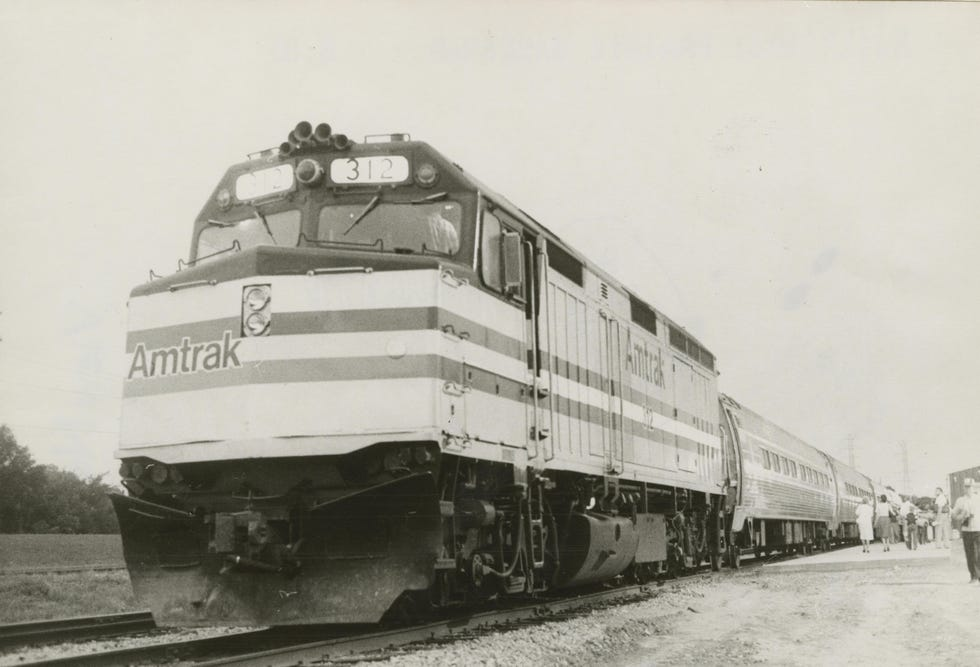 This Journal Star archive photo from Aug. 10, 1980, shows The Prairie Marksman passenger train in Peoria.