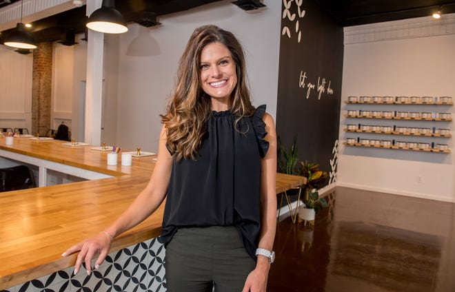 Francie Hinrichsen, owner of Founding Females, stands inside the new Generations Candle Co., 4600 N. Prospect Road, Suite 2, in Peoria Heights. The fledgling women-owned candle company benefited from Hinrichsen's guidance during its startup phase. Founding Females will be hosting Founding Females' Women's Day networking event in March at Loftie Spaces and Events, 725 SW Washington St. in Peoria.