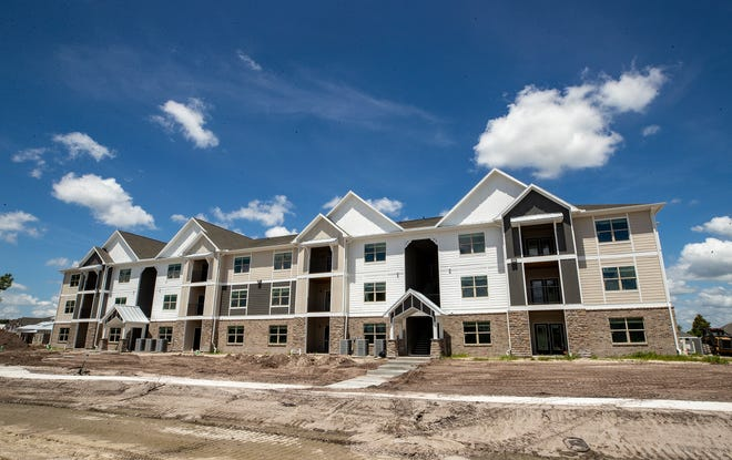 New apartments spring up across from The Shore Luxury Apartments in North Lakeland. The new homes are sorely needed in Polk County, which is facing a housing shortage.