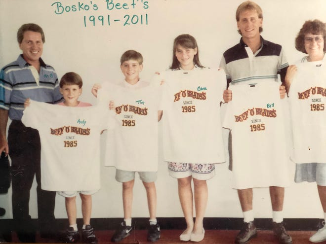 The Bosko family at the opening of the original South Florida Ave location in 1991.