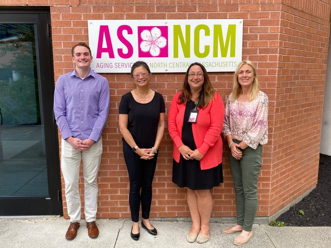From left, Aging Services of North Central Massachusetts Program Specialist Shane McCormack, Executive Office of Elder Affairs Secretary Elizabeth Chen, ASNCM Program Manager Leeanne Kelly and ASNCM Chief Executive Officer Lori Richardson.